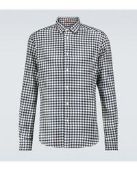 Barena Kariertes Hemd Coppi aus Baumwolle - Blau