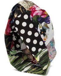 Dolce & Gabbana Turbante a stampa in cotone - Multicolore