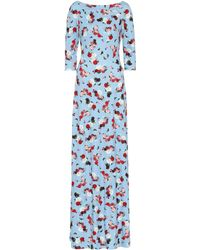 Erdem Exclusive To Mytheresa – Valentina Floral Ponte Gown - Blue