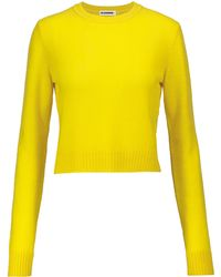 Jil Sander - Cropped-Pullover aus Wolle - Lyst