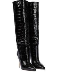 Paris Texas Stiefel aus Leder - Schwarz
