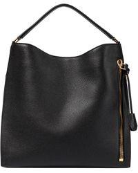Tom Ford Alix Large Leather Shoulder Bag - Black