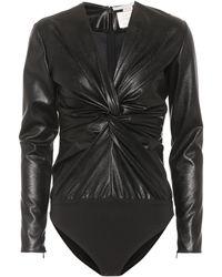 Stella McCartney - Faux Leather Bodysuit - Lyst