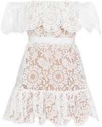 Self-Portrait - Floral-lace Minidress - Lyst