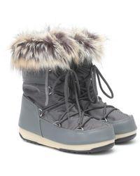 Moon Boot Monaco Low Wp 2 Snow Boots - Grey