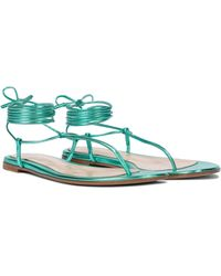 Gianvito Rossi Gwyneth Metallic Leather Sandals - Multicolour