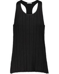 Acne Studios Ribbed-knit Tank Top - Black