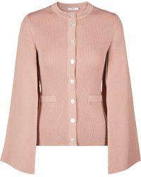 Safiyaa Merino Wool Cardigan - Pink