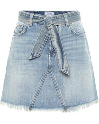 Givenchy Mini-jupe en jean - Bleu