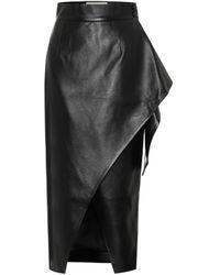 Materiel Tbilisi Faux-leather Wrap Skirt - Black