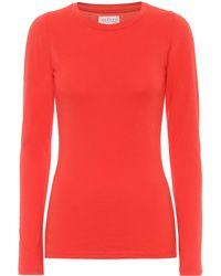 Velvet Zofina Stretch-cotton Jersey Top - Red
