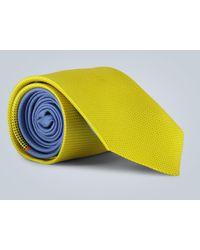 Prada Cravate en soie imprimée - Jaune
