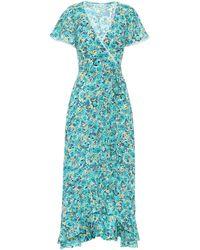 Poupette Joe Floral Wrap Dress - Green