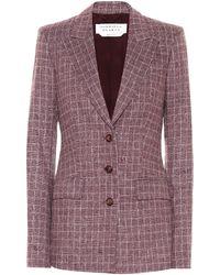 Gabriela Hearst Olga Checked Wool-blend Blazer - Purple