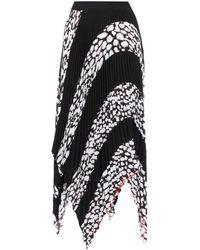 Proenza Schouler - Striped Plissé-pleated Skirt - Lyst