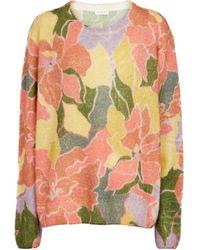 Dries Van Noten Jersey en mezcla de alpaca y lana floral - Multicolor