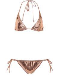 Lisa Marie Fernandez Triangel-Bikini Pamela - Mettallic