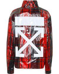 Off-White c/o Virgil Abloh Coated Plaid Jacket - Red