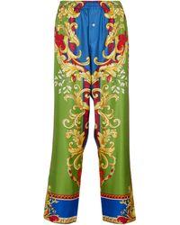 Versace Medusa Renaissance Silk Pyjama Trousers - Multicolour