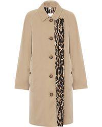 Burberry Cotton-gabardine Coat - Natural