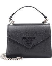 Prada - Monochrome Leather Shoulder Bag - Lyst
