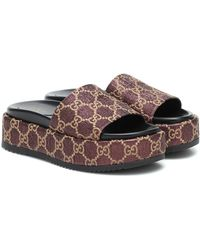 Gucci GG-jacquard Slides - Purple
