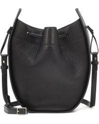 The Row Drawstring Pouch Shoulder Bag - Black