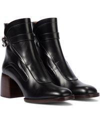 Chloé Ankle Boots Gaile aus Leder - Schwarz