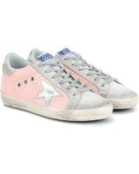 Golden Goose Deluxe Brand - Exklusiv bei Mytheresa – Sneakers Superstar aus Veloursleder - Lyst