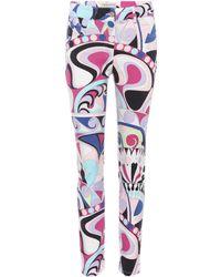 Emilio Pucci Printed Skinny Jeans - Multicolour