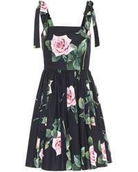 Dolce & Gabbana Floral Cotton Minidress - Multicolor