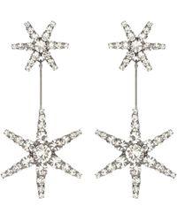 Jennifer Behr Orecchini Estee con cristalli - Metallizzato