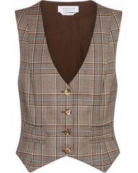 Gabriela Hearst Zelos Checked Virgin Wool Vest - Brown