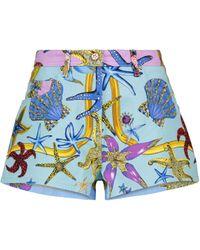 Versace Shorts Trésor de la Mer de jeans - Azul