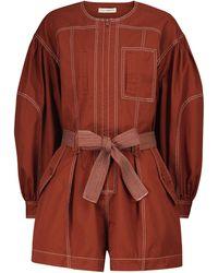 Ulla Johnson Mono Delta de algodón con cinturón - Rojo