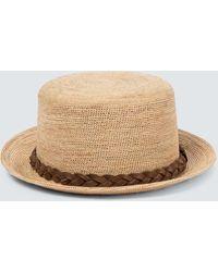 Borsalino Hut aus Bast - Natur