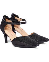 Marine Serre Moiré Court Shoes - Black