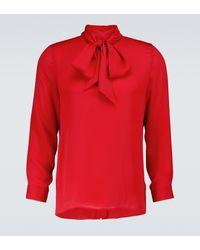 Gucci Hemd aus Seide - Rot
