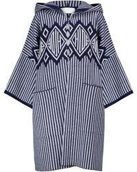 Chloé Mantel aus Wolle und Kaschmir - Blau