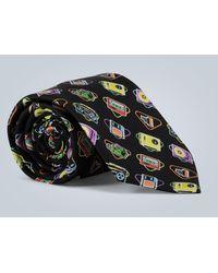 Prada Retro Printed Silk Tie - Black