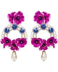 Dolce & Gabbana Verzierte Clip-Ohrringe - Lila
