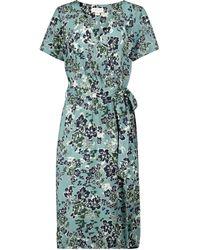 Velvet Rona Floral Wrap Dress - Green