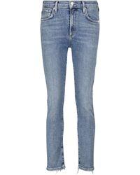 Agolde Jeans slim Toni a vita media - Blu
