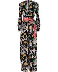 Diane von Furstenberg Hesy Silk Crêpe De Chine Jumpsuit - Black