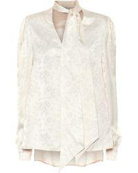 Racil Solange Floral Satin Blouse - White