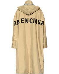 Balenciaga Opera Oversized Raincoat - Natural