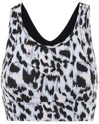 Varley Bassett Leopard-print Sports Bra - Metallic
