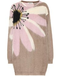 Valentino Mohair-blend Sweater - Natural