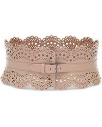 Alaïa Leather Corset Belt - Multicolour