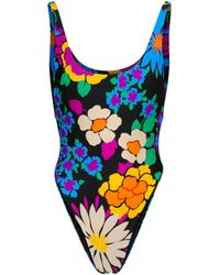 Saint Laurent Floral Swimsuit - Multicolour